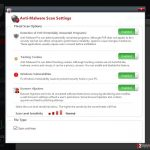 Customizable Anti-Malware Pro scan settings