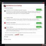 Customizable Anti-Malware Pro scan settings