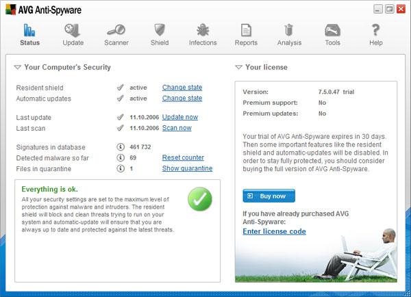Download free avg anti-spyware, avg anti-spyware 7. 5. 1. 43-3339.