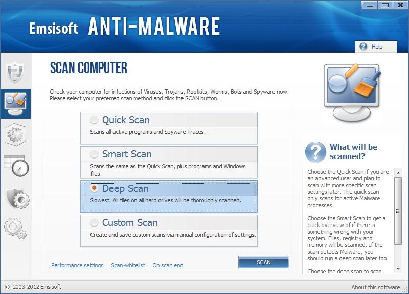 Emsisoft Anti Malware snapshot