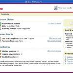 McAfee AntiSpyware snapshot