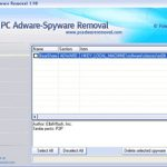PC AdWare SpyWare Removal snapshot