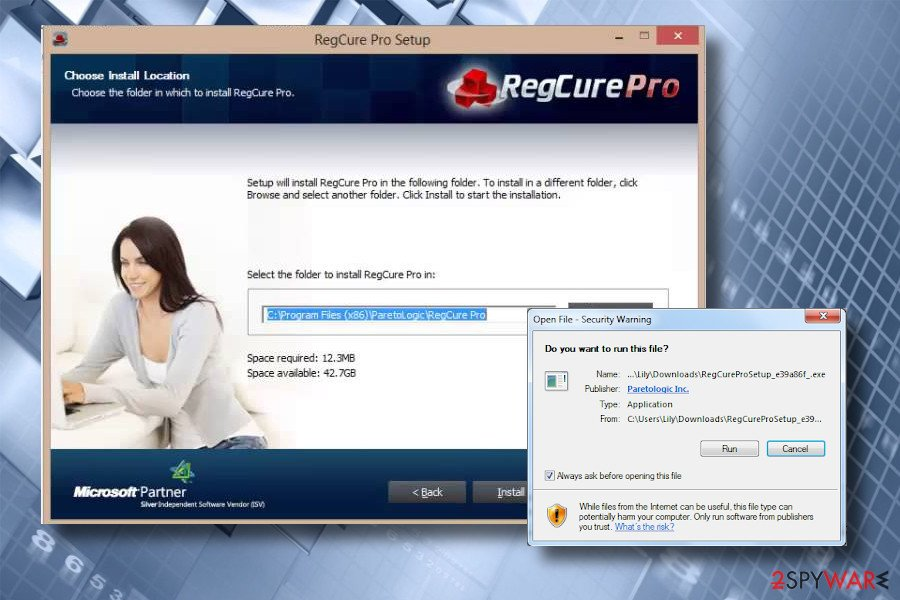 RegCure Pro download option