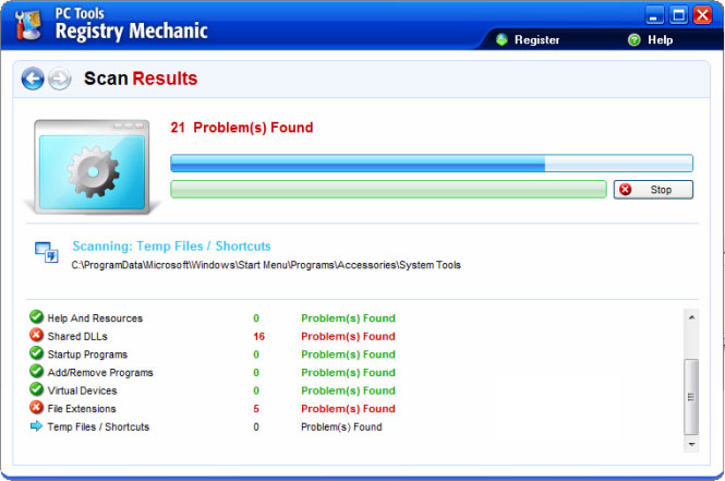 Registry Mechanic snapshot