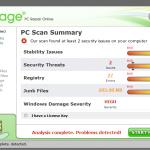 Reimage scan report