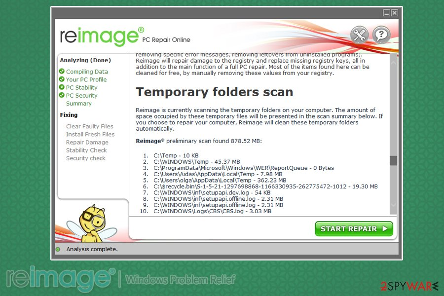 Reimage three stage scan