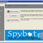 Spybot Search and Destroy snapshot