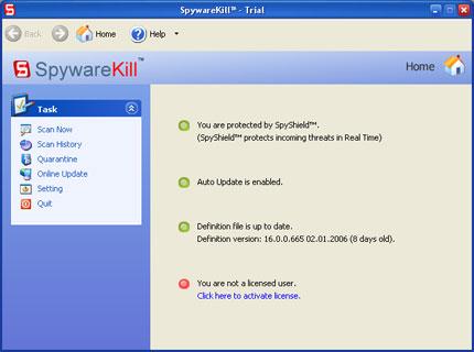 SpywareKill snapshot