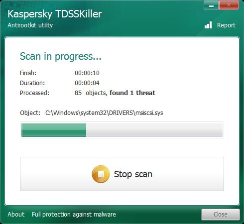 TDSSKiller snapshot