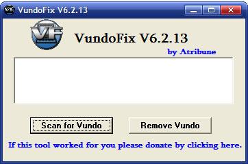 VundoFix V6 snapshot