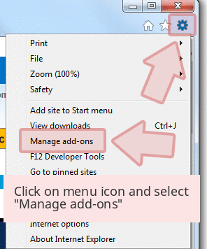 Click on menu icon and select 'Manage add-ons'