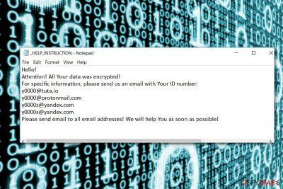 0000 ransomware screenshot