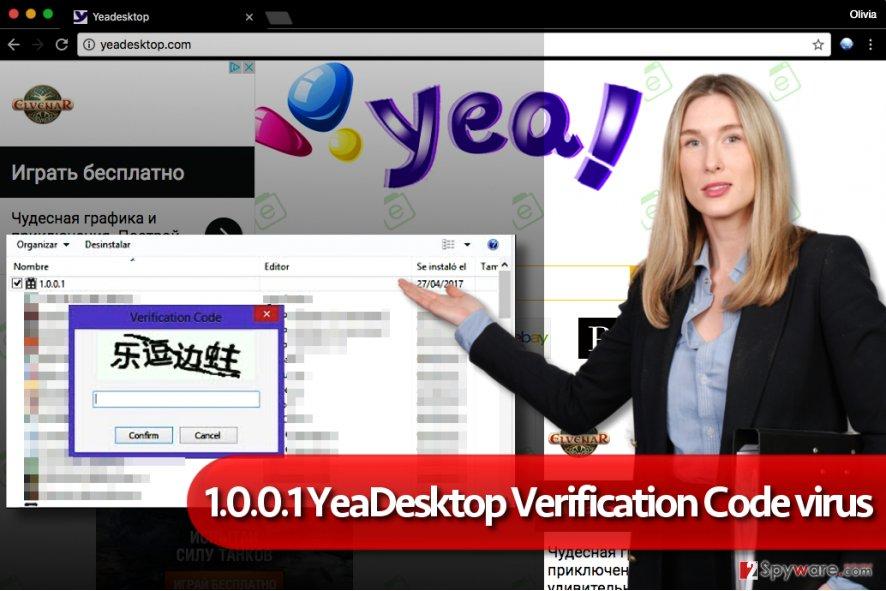 1.0.0.1 YeaDesktop verification code malware