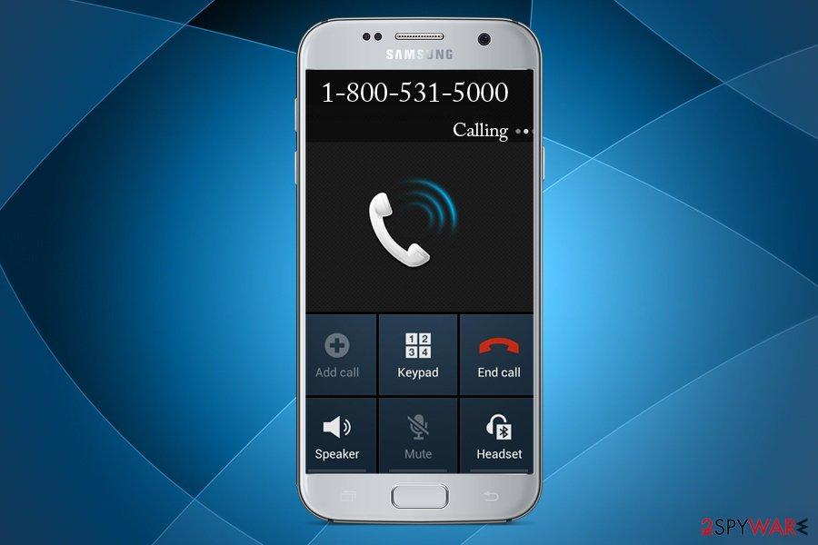 8005315000 scam call
