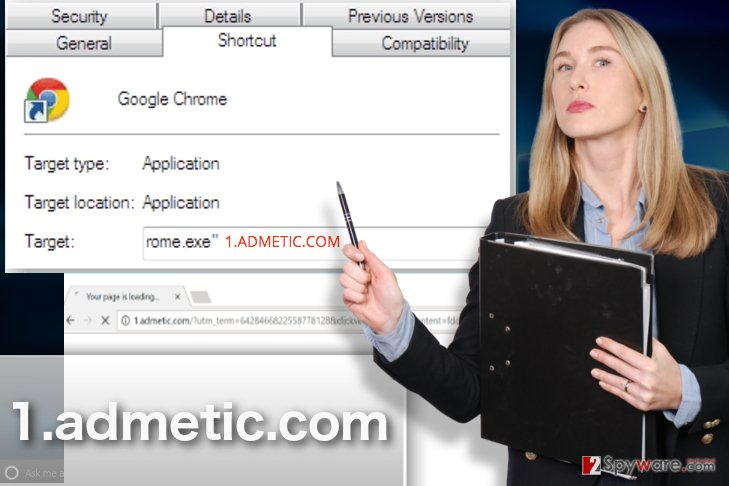 Example of 1.admetic.com virus