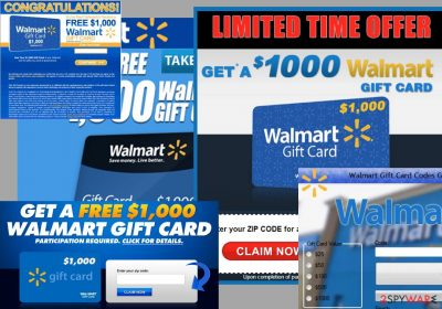 $1000 Walmart Gift Card Winner ads