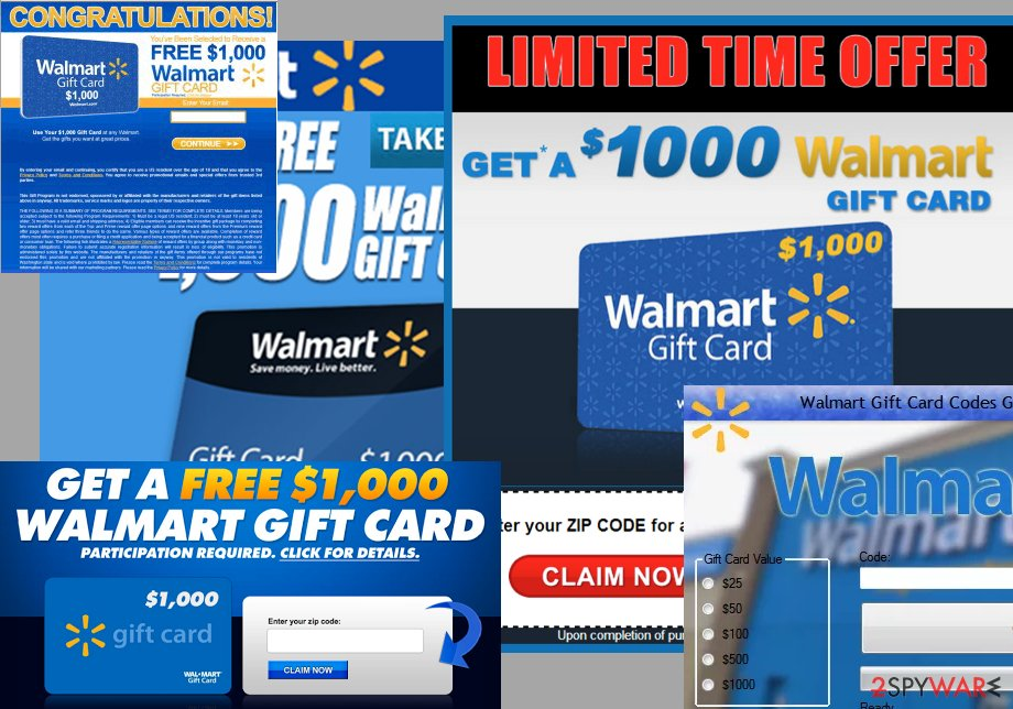 $1000 Walmart Gift Card Winner ads