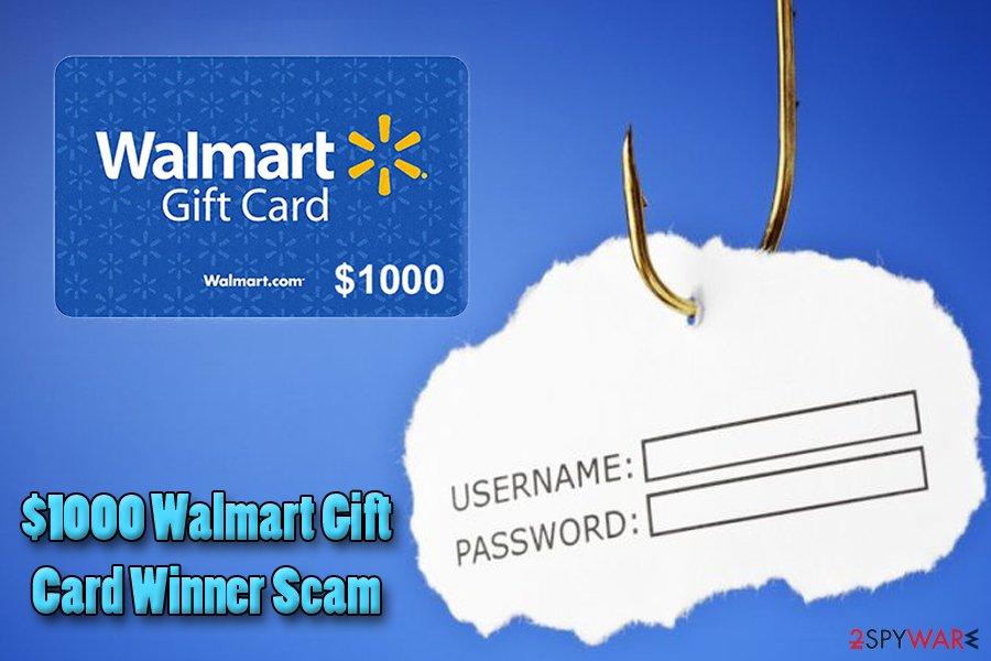 $1000 Walmart Gift Card Winner virus