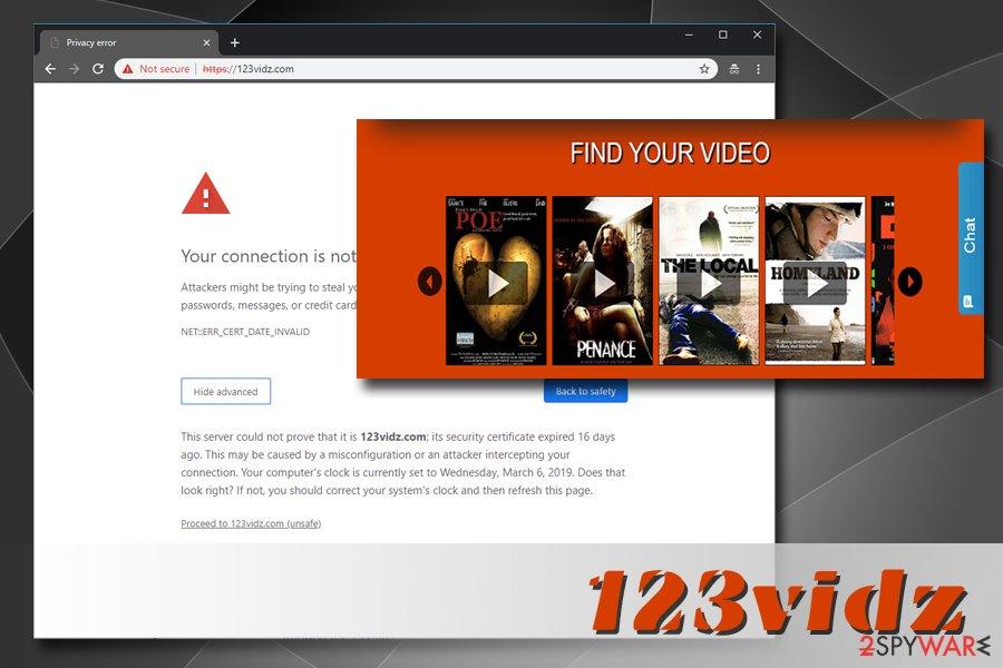 123 vidz adware