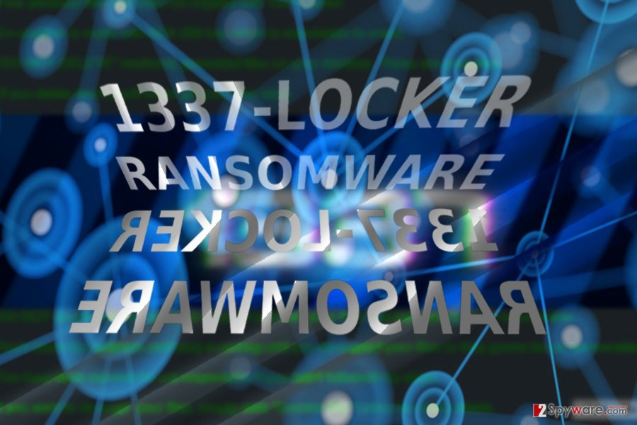 The screenshot of 1337Locker ransomware