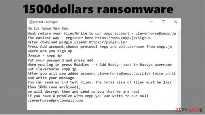 1500dollars ransomware