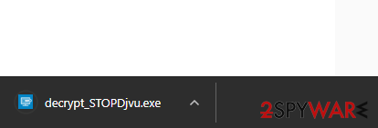 Click decrypt_STOPDjvu.exe