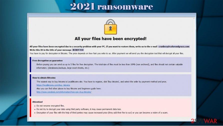 2021 ransomware