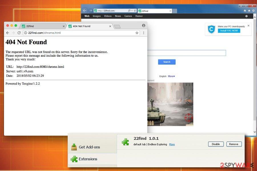 22find browser hijacker