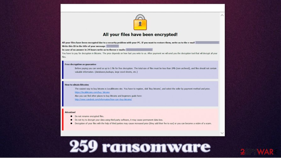 259 ransomware