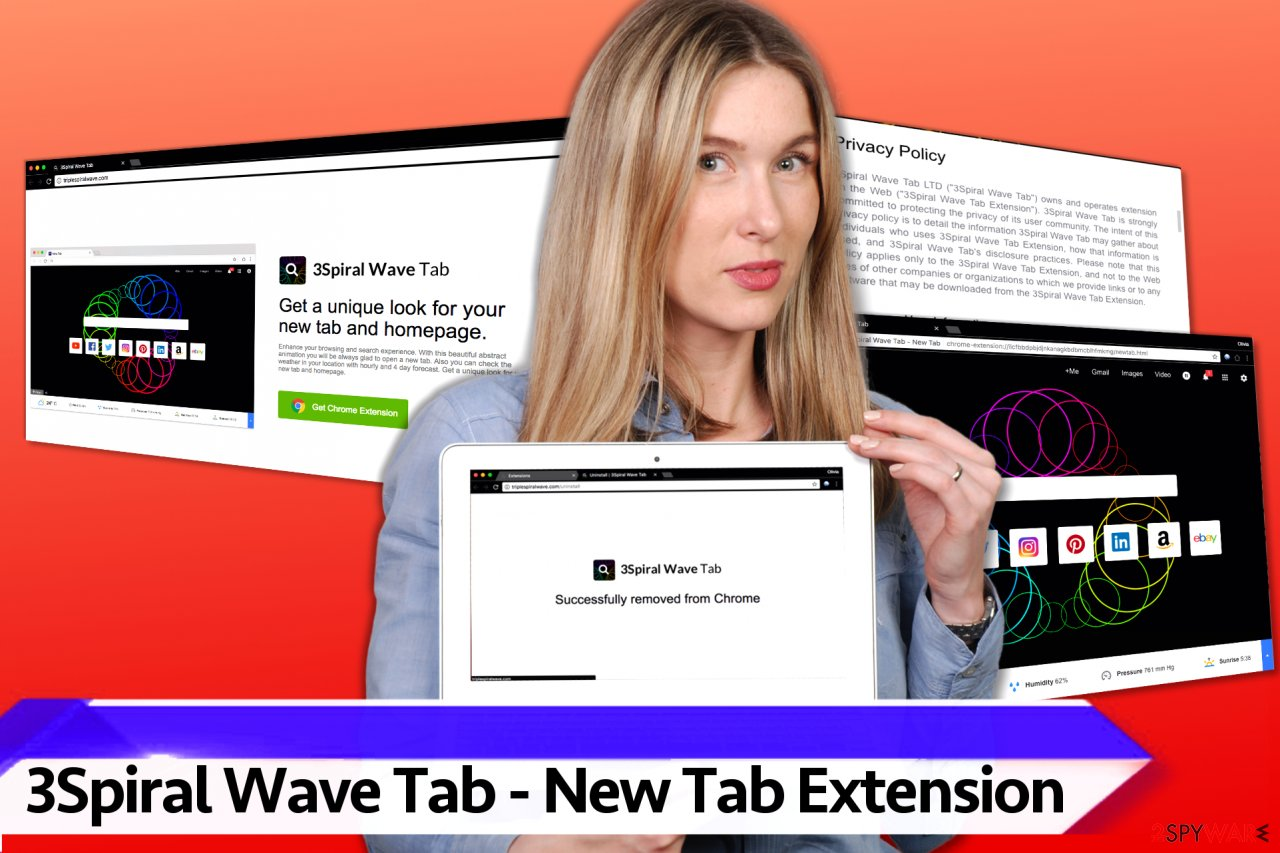 3Spiral Wave Tab - New Tab virus