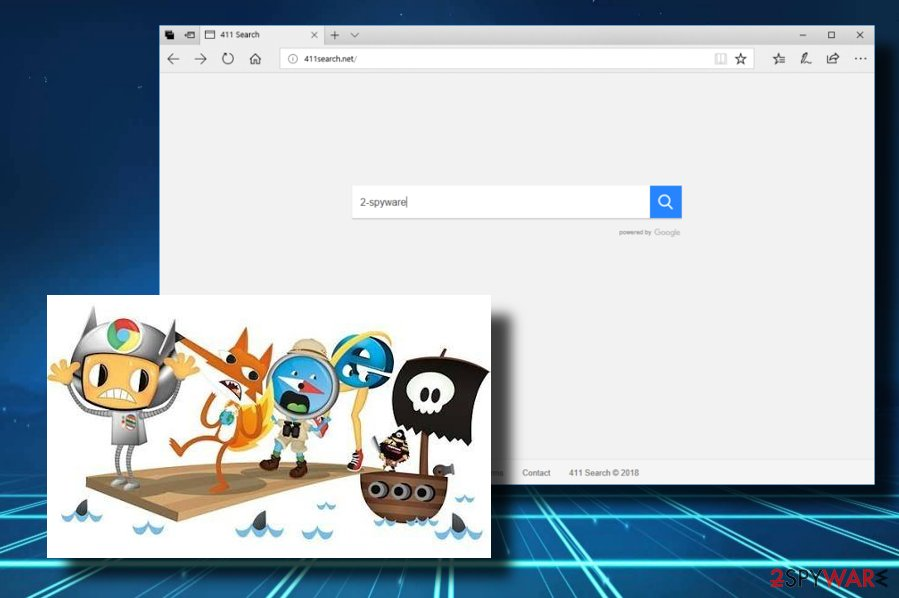411search.net browser hijacker