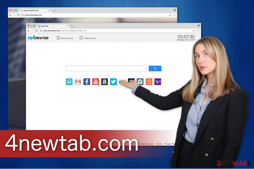 4newtab.com browser hijacker aims for pay-per-click revenue