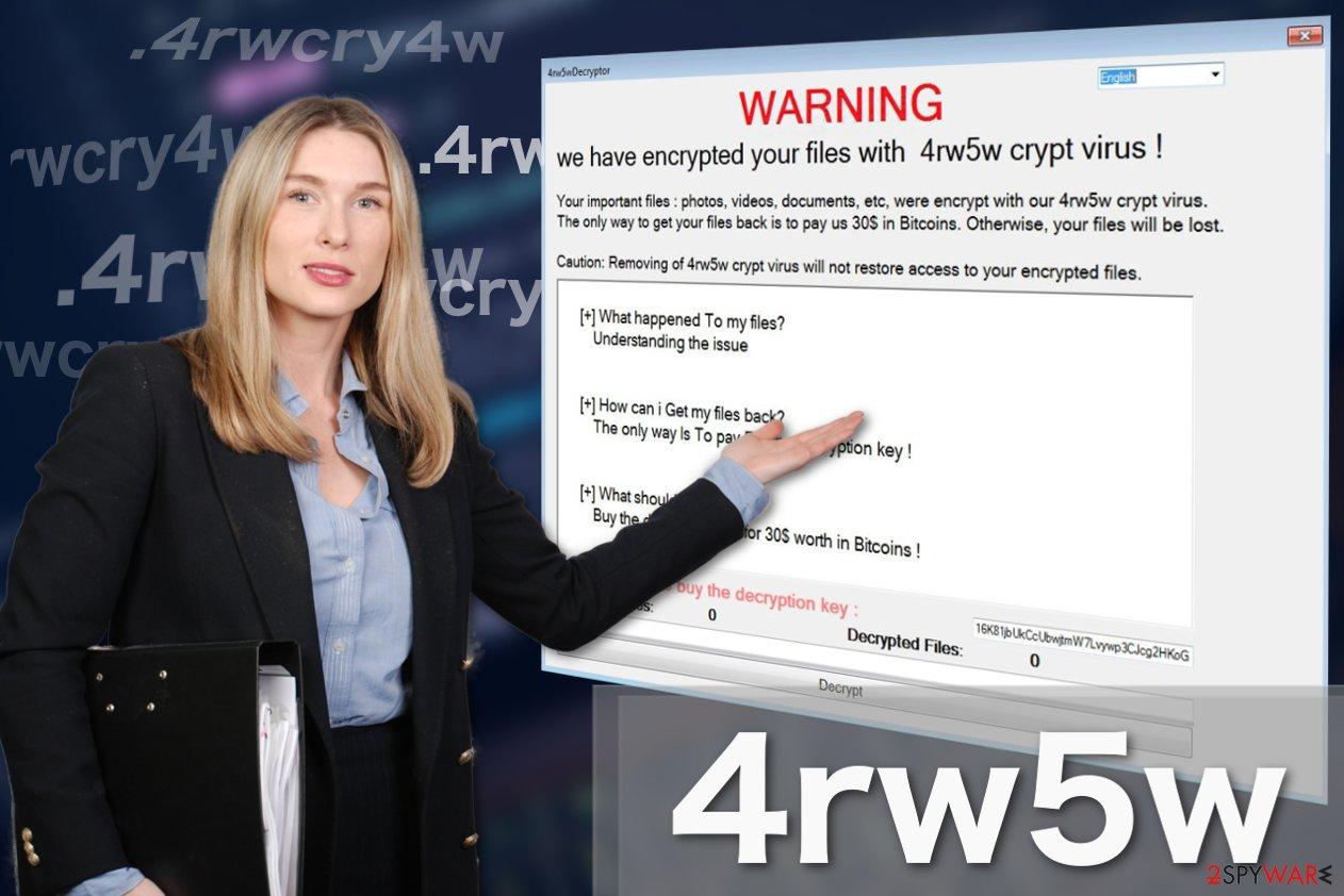 Image of 4rw5w ransomware virus