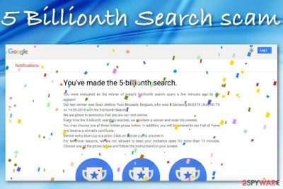 Google 5 Billionth Search scam