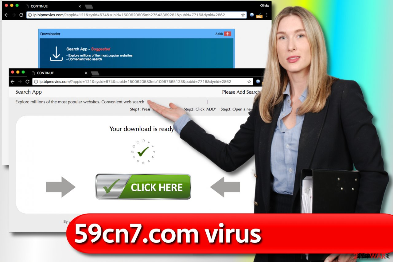 Ads by 59cn7.com virus