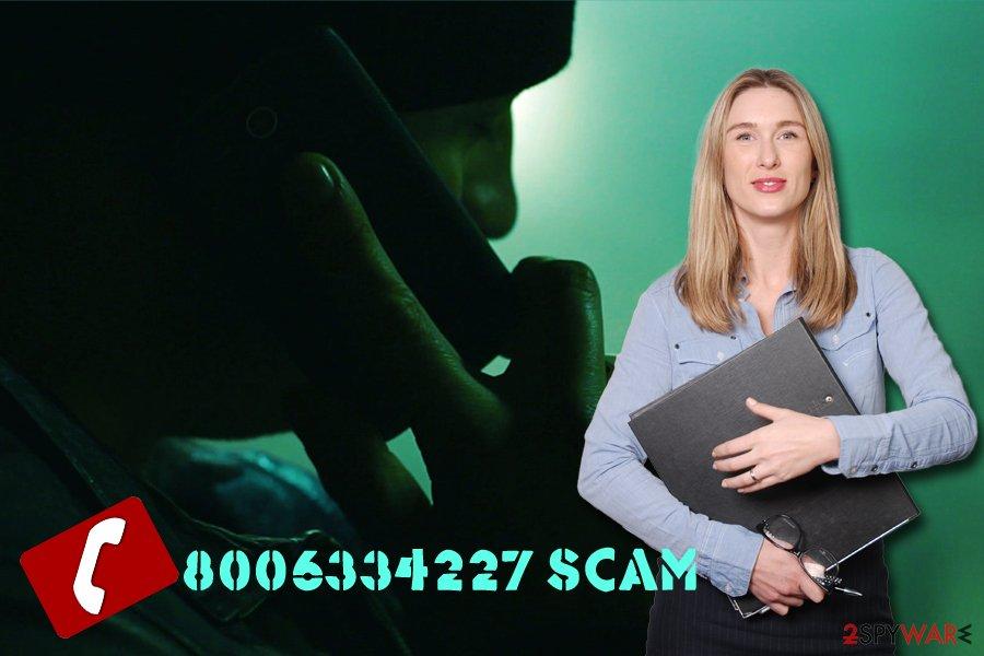 8006334227 fake number