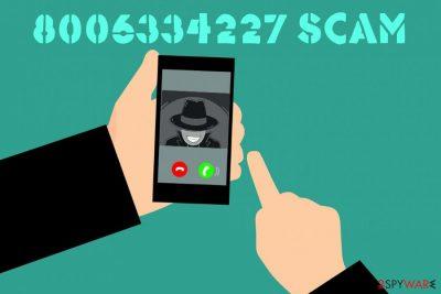 8006334227 scam