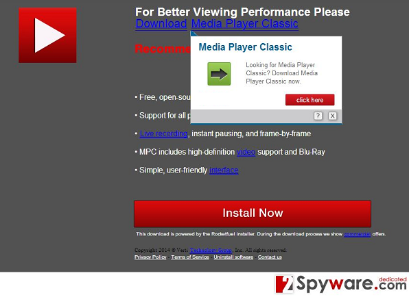 """Pobierz Flash Player"" snapshot"