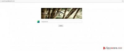 A screenshot of EasyDialSearch virus example