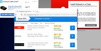 Examples of A.targetserving.com pop-up ads