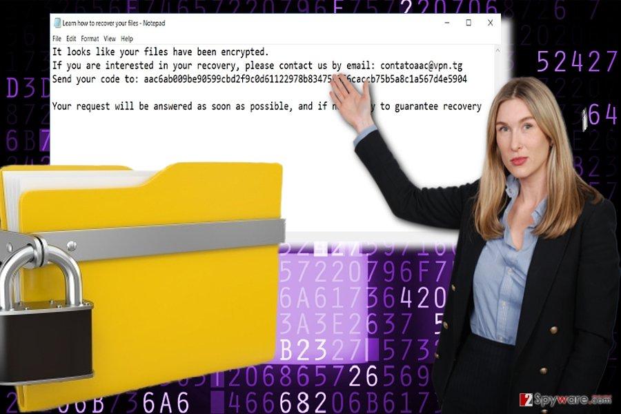 AAC virus ransom note