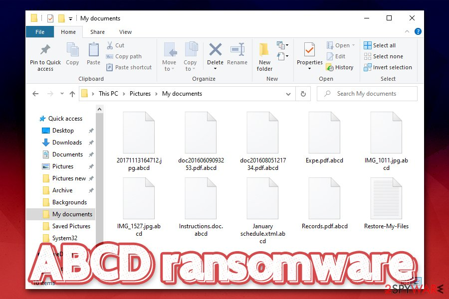 ABCD ransomware encrypted files