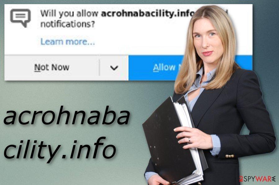 Acrohnabacility.info adware