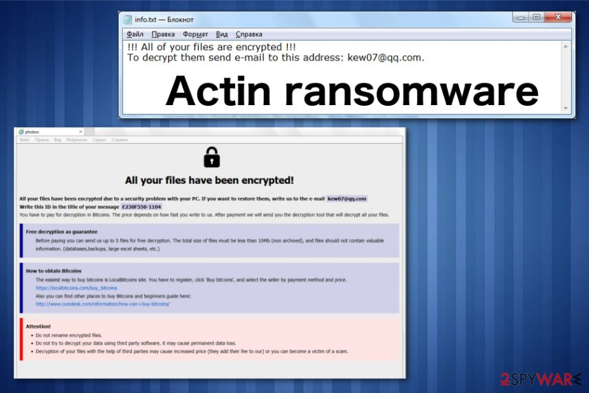 Remove Actin ransomware (Free Guide) - Decryption Steps Included