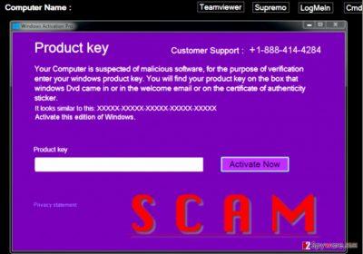 Activate this edition of Windows scareware