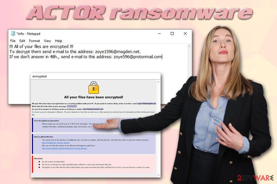 Actor ransomware virus