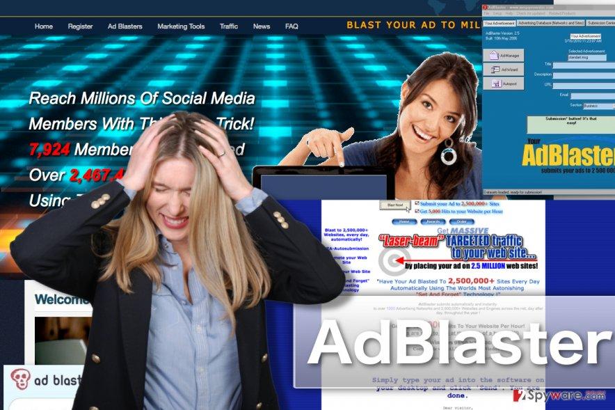 Image displaying AdBlaster adware sites