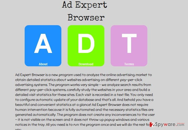 Ad Expert Browser virus