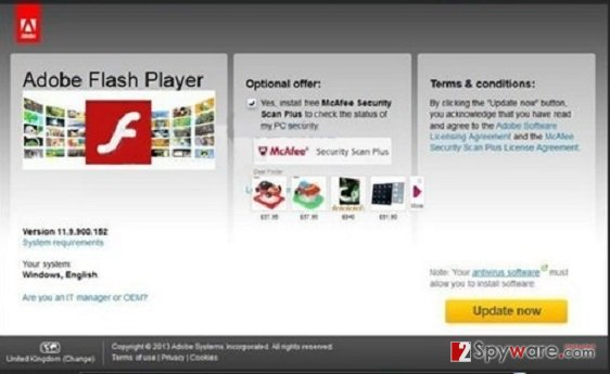 Ad0be.flashs-player.us pop-up virus snapshot