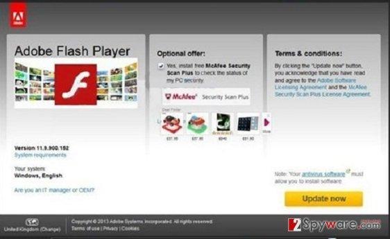 Ad0be.flashs-player.us pop-up virus snapshot